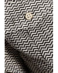 Tory Burch | Black Brigitte Zigzag Cotton Shirt Dress | Lyst
