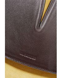 Jil Sander | Brown Cutout Leather And Suede Shoulder Bag | Lyst