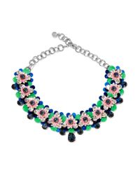 Shourouk - Black Silver-tone, Crystal And Sequin Necklace - Lyst