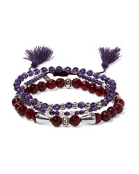 Chan Luu | Purple Set Of Three Beaded Bracelets | Lyst