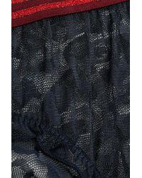 LoveStories - Blue Leopard-print Mesh Briefs - Lyst