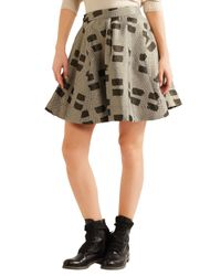 Vivienne Westwood Anglomania - Metallic Pleated Printed Woven Mini Skirt - Lyst