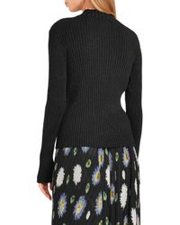 Markus Lupfer - Black Rosie Metallic Ribbed-knit Sweater - Lyst