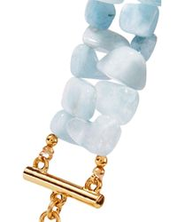 Kenneth Jay Lane - Blue Gold-plated Beaded Bracelet - Lyst