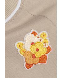Carven - Multicolor Floral-appliquéd Jersey Sweatshirt - Lyst