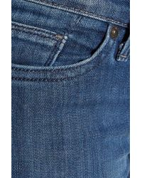 7 For All Mankind - Blue The Straight Low-rise Slim-leg Jeans - Lyst