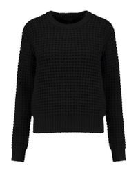 Marc By Marc Jacobs | Black Wally Waffle-knit Wool-blend Sweater | Lyst