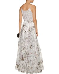 Noir Sachin & Babi - White Someidy Sequined Chiffon And Fil Coupé Silk Gown - Lyst