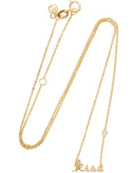 Shy By Sydney Evan - Metallic Gold-plated Diamond Necklace - Lyst