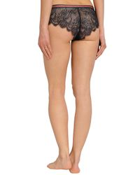 LoveStories - Dragonfly Scalloped Chantilly Lace Mid-rise Briefs Storm Blue - Lyst