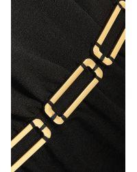 Halston Heritage | Black Embellished Ponte Mini Dress | Lyst