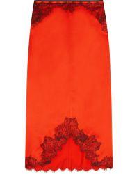 Rag & Bone | Multicolor Izabella Lace-trimmed Silk-satin Skirt | Lyst