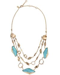 Alexis Bittar | Metallic Gold-tone Stone Necklace | Lyst