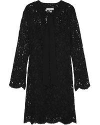 Sandro | Black Raoule Corded Lace Mini Dress | Lyst