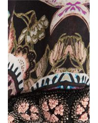Etro | Multicolor Embellished Printed Silk Gown | Lyst