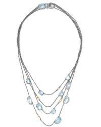 Alexis Bittar | Metallic Silver And Gold-tone And Crystal Necklace | Lyst