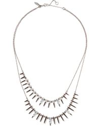 Alexis Bittar | Metallic Gunmetal-tone Crystal Necklace | Lyst