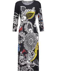 Preen By Thornton Bregazzi | Multicolor Printed Crepe Midi Dress | Lyst