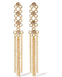 Ben-Amun | Metallic Gold-tone Crystal Earrings | Lyst