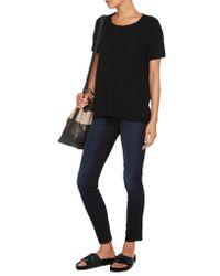 James Perse - Black Cotton T-shirt - Lyst