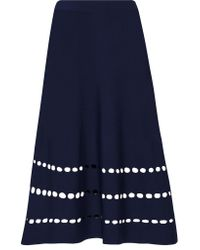 Ohne Titel - Blue Cutout Stretch-knit Skirt - Lyst