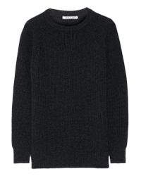 Helmut Lang | Multicolor Ribbed Wool And Cashmere-blend Sweater | Lyst
