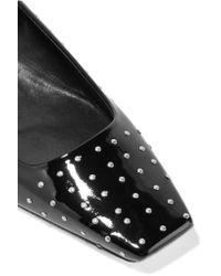Roger Vivier | Black Pois Studded Patent-leather Ballet Flats | Lyst
