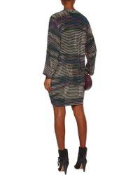 IRO - Multicolor Ariana Lace-up Striped Silk Mini Dress - Lyst