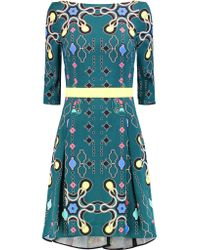 Peter Pilotto - Multicolor Disc Printed Cady Dress - Lyst