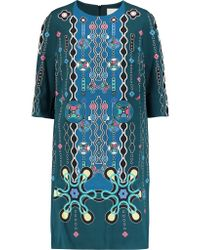 Peter Pilotto | Multicolor Cube Printed Crepe Dress | Lyst