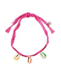 Aurelie Bidermann | Pink Takayama Braided Cord And Shell Necklace | Lyst