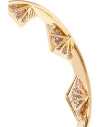 Noir Jewelry - Metallic Gold-tone Crystal Earrings - Lyst