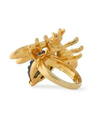 Kenneth Jay Lane - Metallic Gold-tone, Crystal And Stone Ring - Lyst