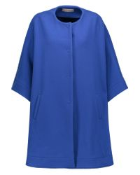 Emilio Pucci | Blue Stretch Wool, Silk And Cashmere-blend Cape | Lyst