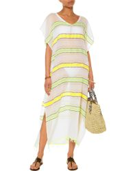lemlem - Yellow Addis Embroidered Cotton-blend Coverup - Lyst