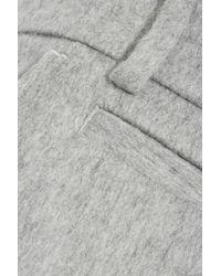 Rag & Bone - Gray Aggie Brushed Wool-blend Wide-leg Pants - Lyst