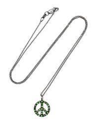 Ileana Makri | Green Peace 18-karat White Gold Tsavorite Necklace | Lyst