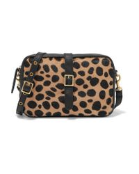Clare V. | Multicolor Mini Sac Leopard-print Calf Hair And Leather Shoulder Bag | Lyst