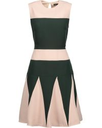 Raoul | Multicolor Lalia Godet Two-tone Crepe Mini Dress | Lyst