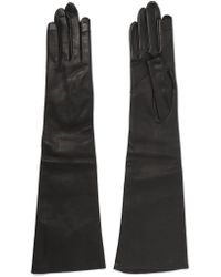 Rick Owens | Black Leather Gloves | Lyst