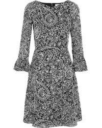Tory Burch | Black Embroidered Organza Dress | Lyst