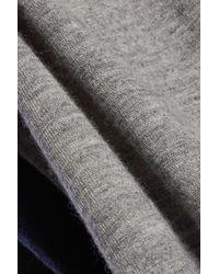 Autumn Cashmere - Gray Colorblock Cashmere Sweater - Lyst