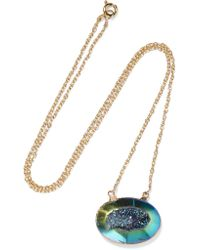 Dara Ettinger | Metallic Gold-plated Stone Necklace | Lyst