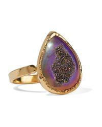 Dara Ettinger | Purple Gold-tone Stone Ring | Lyst