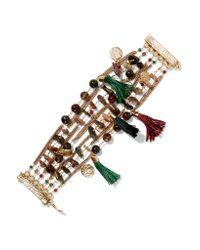 Rosantica   Metallic Gitana Gold-tone, Bead And Tassel Bracelet   Lyst