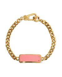 Marc By Marc Jacobs | Pink Katie Gold-tone Enamel Bracelet | Lyst