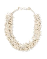 Kenneth Jay Lane | White Beaded Necklace | Lyst