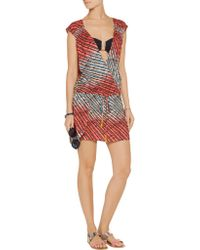 ViX | Red Molly Printed Voile Coverup | Lyst