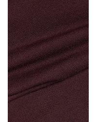 Enza Costa - Purple Layered Cotton Midi Dress - Lyst