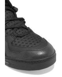 Marc By Marc Jacobs   Black Mesh, Leather And Acrylic High-top Sneakers   Lyst